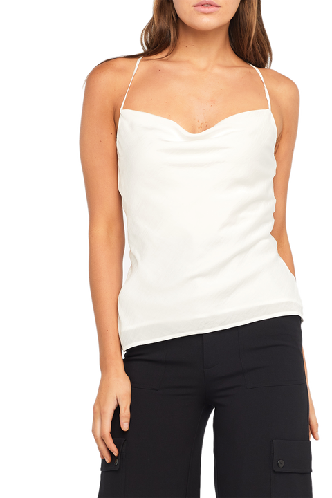 JULIA STRAP TOP in colour BRIGHT WHITE