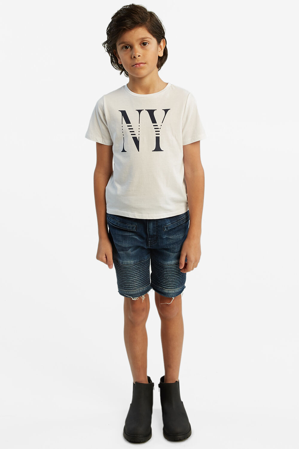 NEW YORK TEE in colour BRIGHT WHITE