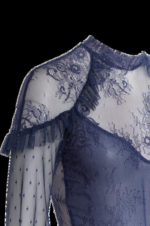 SPLICE LACE BLOUSE in colour SNORKEL BLUE