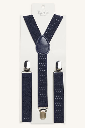 OSCAR SPOTTY BRACES in colour NAVY BLUE