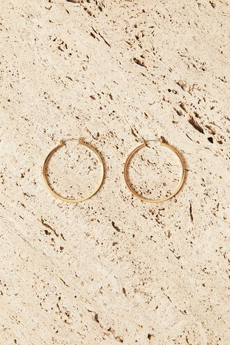 LARGE GISELLE HOOP in colour GOLD EARTH