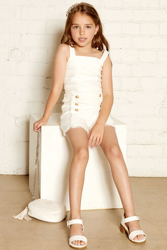 MARIS BOUCLE SHORT in colour BRIGHT WHITE