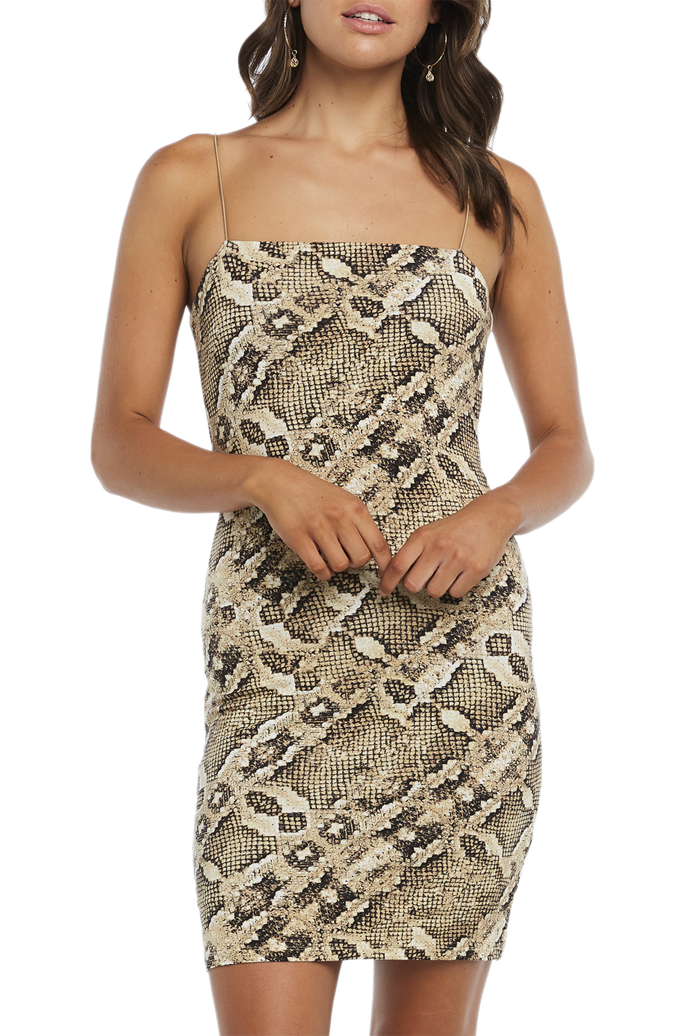 MINI SNAKE DRESS in colour EGRET
