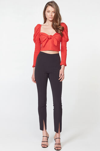 TIE FRONT TOP in colour FIESTA