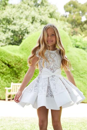 LOLA STARLET DRESS in colour CLOUD DANCER