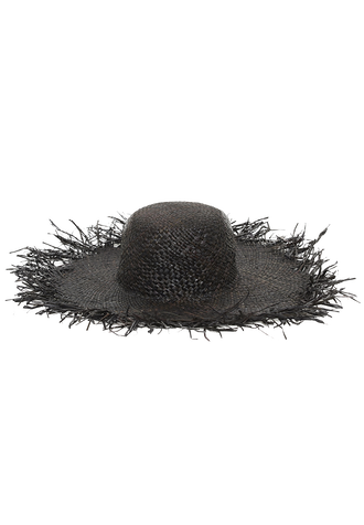 MESSY EDGE BRIM HAT in colour METEORITE