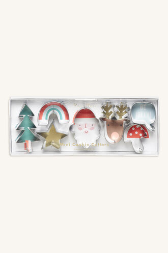 COOKIE CUTTER - MINI CHRISTMAS in colour BRIGHT WHITE