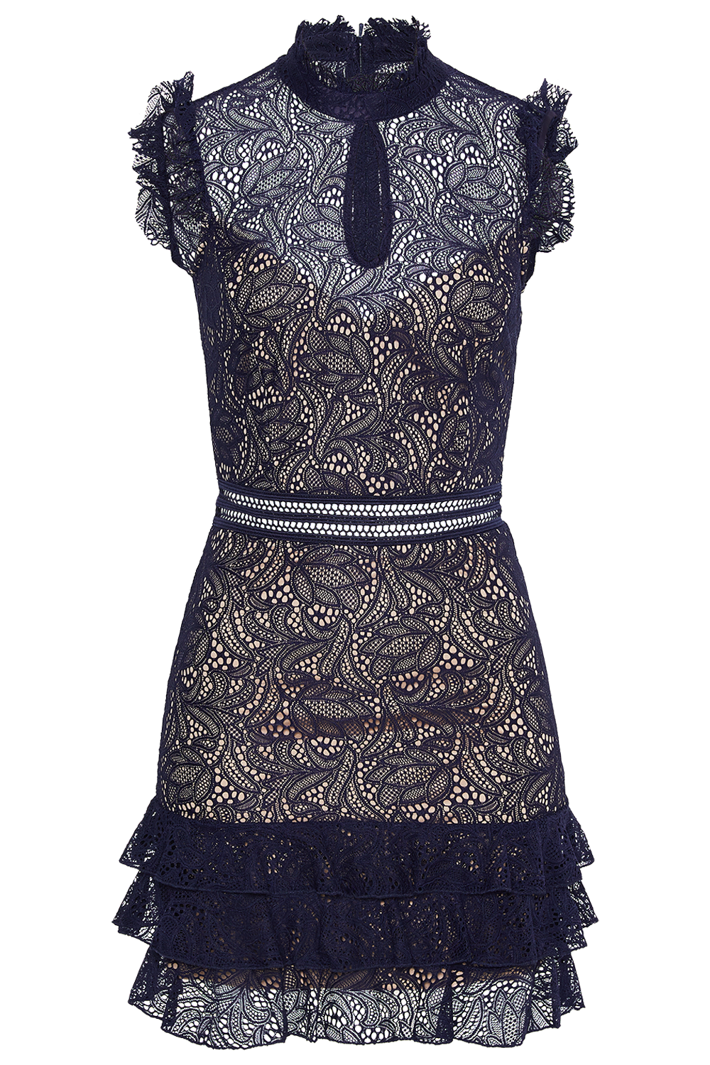 BETTINA LACE DRESS in colour MARITIME BLUE