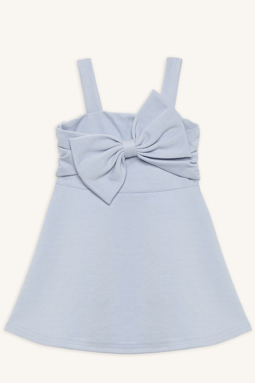SABE BOW DRESS in colour BALLAD BLUE