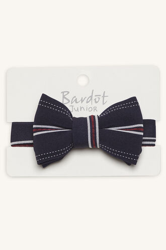STRIPE BOW TIE in colour RED BUD