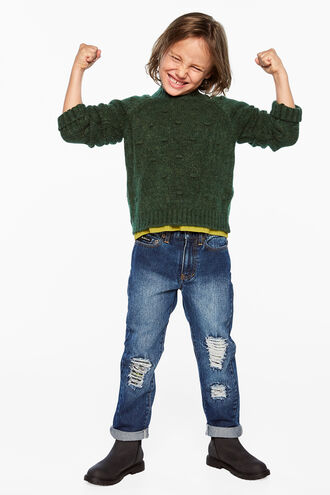 BOBBLE KNIT SWEATER in colour SYCAMORE