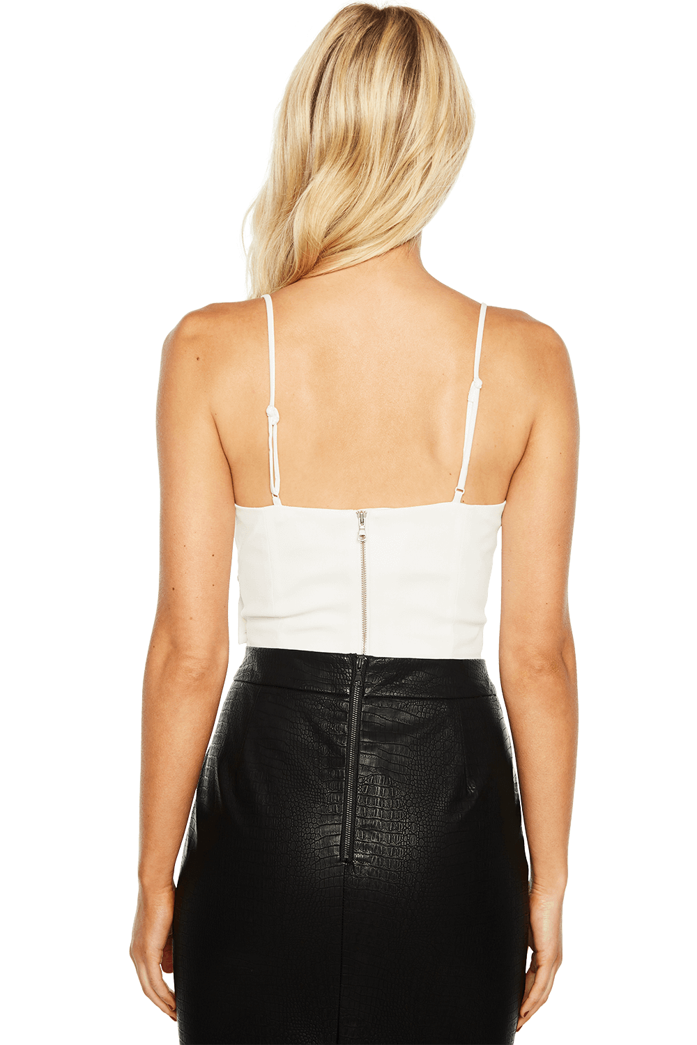 EVA CROPPED TOP in colour CLOUD DANCER