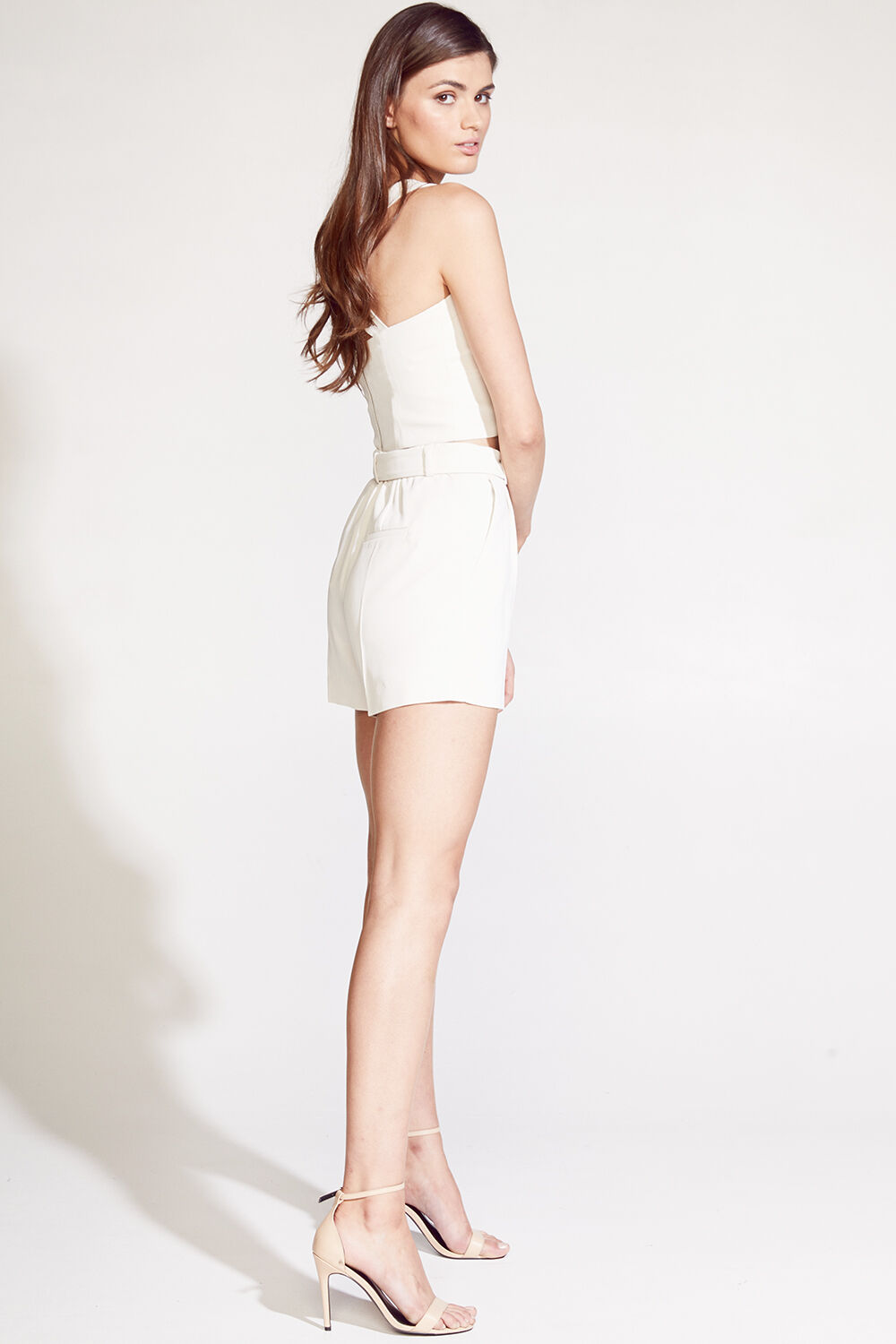 PARISIENNE SHORT in colour ANTIQUE WHITE
