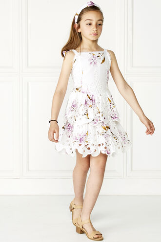 ESTELLE RARA DRESS in colour BLANC DE BLANC
