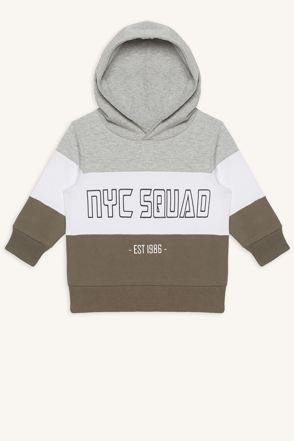 NYC SQUAD SWEAT SHIRT in colour DEEP LICHEN GREEN