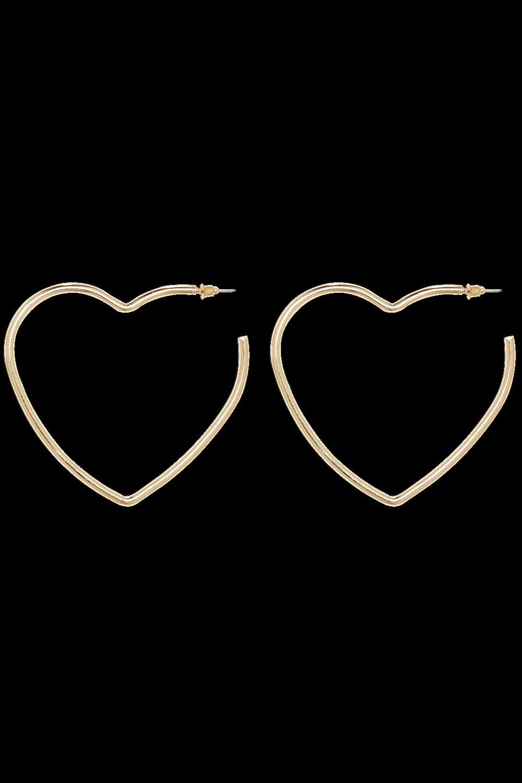HEART EARRINGS in colour GOLD EARTH