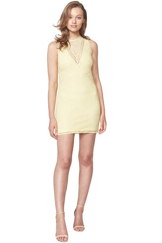 AUBREY LACE DRESS in colour SUNSHINE