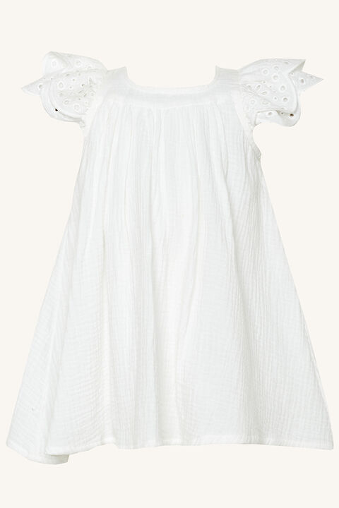 MAYRA SMOCK DRESS in colour CLOUD DANCER