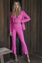 AMALFI SPLIT PANT in colour SHOCKING PINK