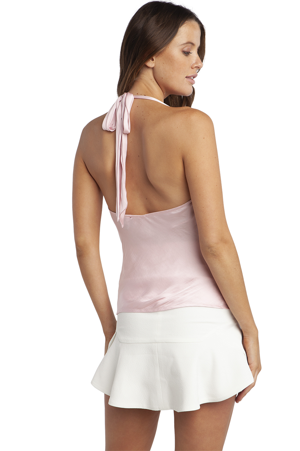 JACQUES HALTER TOP in colour CRADLE PINK