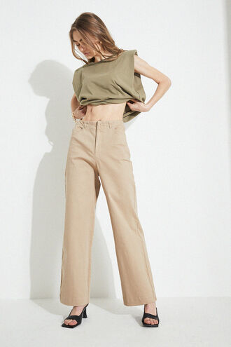 STRETCH DRILL PANT in colour MOONLIGHT