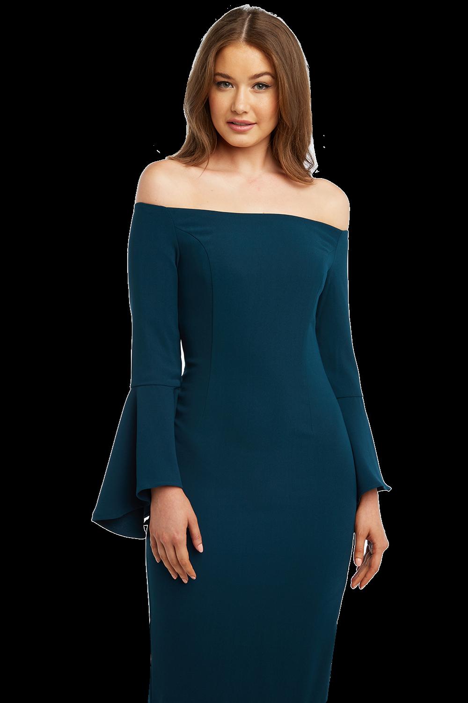 SOLANGE DRESS in colour COLONIAL BLUE