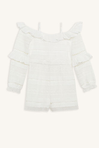 FLORIDA PLAYSUIT in colour CLOUD DANCER