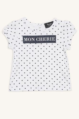 MON CHERIE TEE in colour BRIGHT WHITE