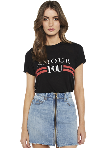 FOU TEE in colour JET BLACK