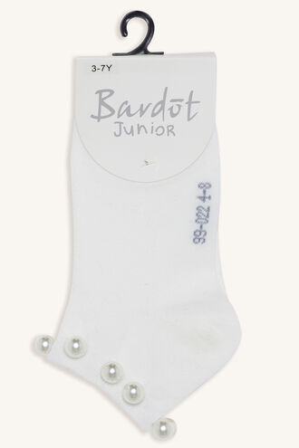 PRETTY PEARL SOCKS in colour WHITE ALYSSUM