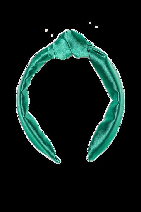 KNOT SATEEN HEADBAND in colour GREEN ASH