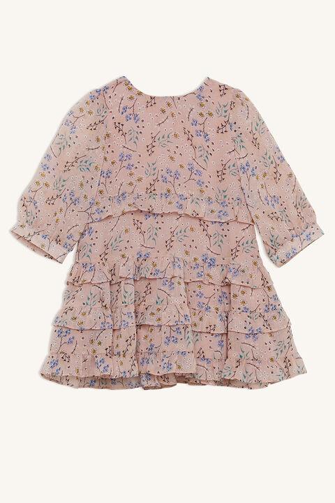 ESTER FRILL DRESS in colour PEACH BLUSH