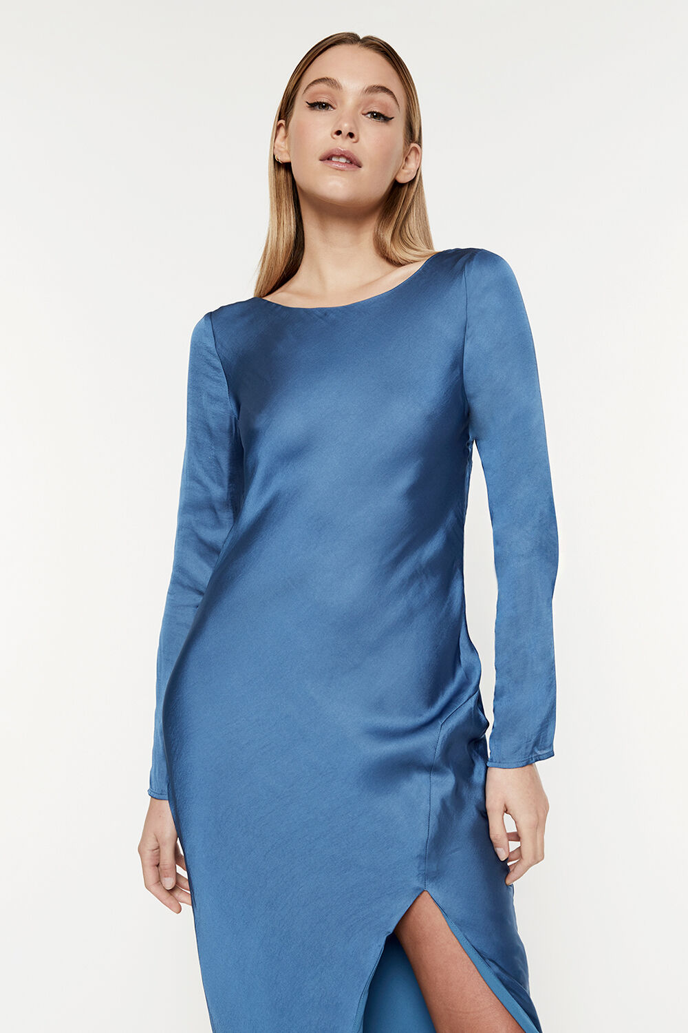 RIVER BIAS DRESS in colour BAYBERRY