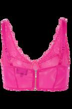 ESSIE LACE TOP in colour FUCHSIA PURPLE