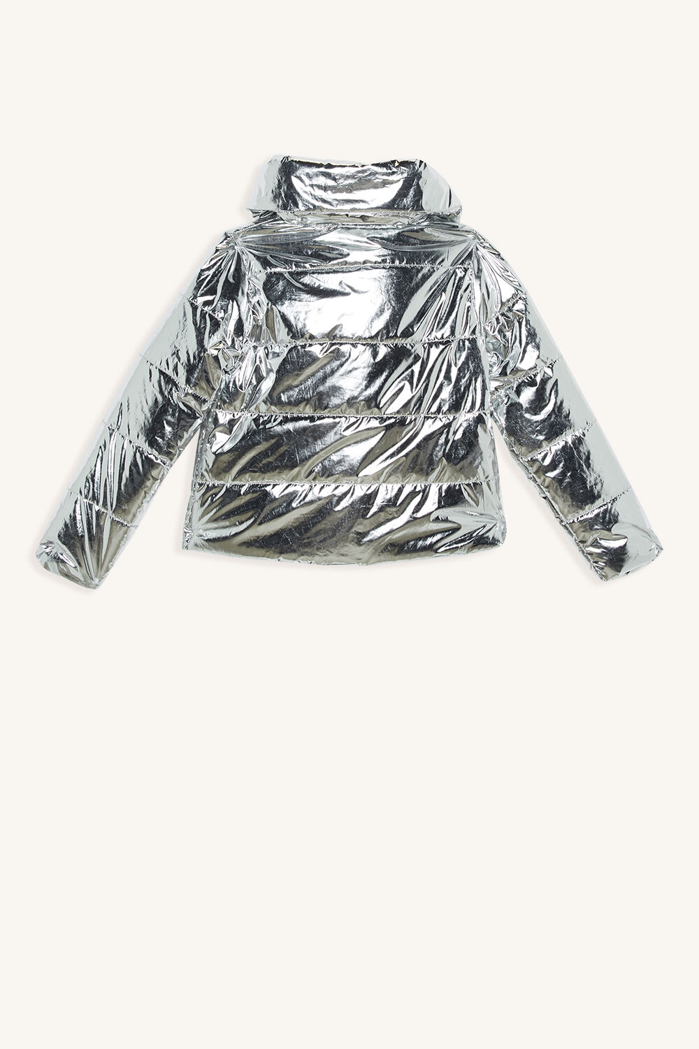 MINA WRAP PUFFER JACKET in colour LUNAR ROCK