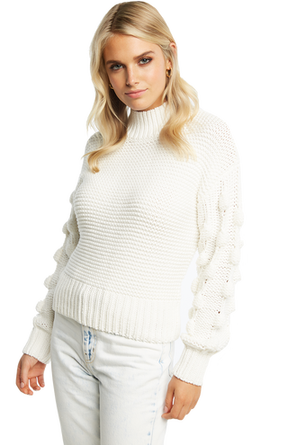 BOBBLE KNIT JUMPER in colour BRIGHT WHITE