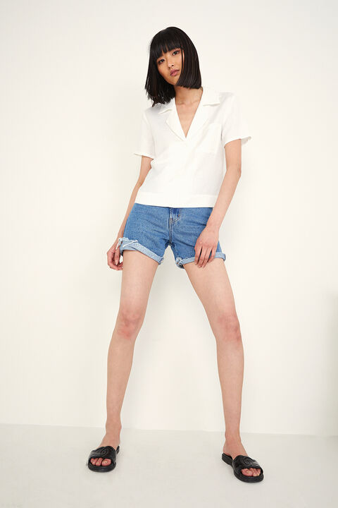 THE SHORT SLEEVE SHIRT in colour BRIGHT WHITE