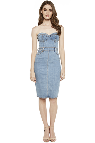 MIA DENIM DRESS in colour CITADEL
