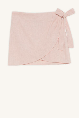 EMMA WRAP SKIRT in colour MISTY ROSE