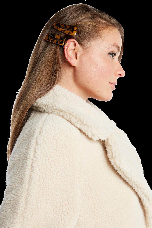 TORTOISE HAIR CLIP SET in colour TORTOISE SHELL
