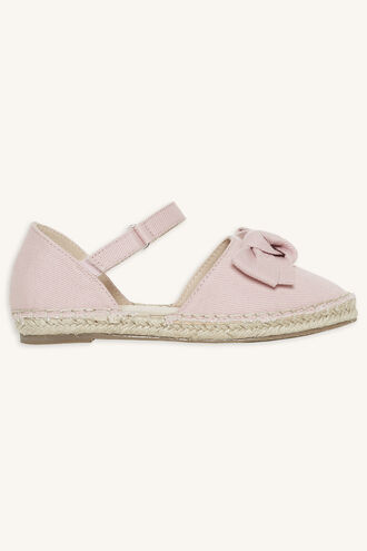 PRETTY BOW ESPADRILLES in colour PINK CARNATION