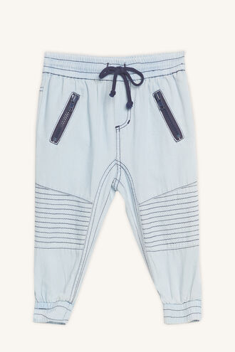 CHAMBRAY SLOUCH PANT in colour PLEIN AIR
