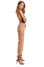 CARGO ZIP PANT in colour PRALINE