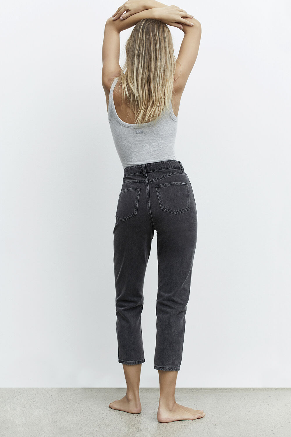 THE MUM JEAN in colour PEWTER