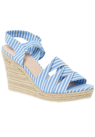 STRIPE WEDGE in colour BLUE BELL