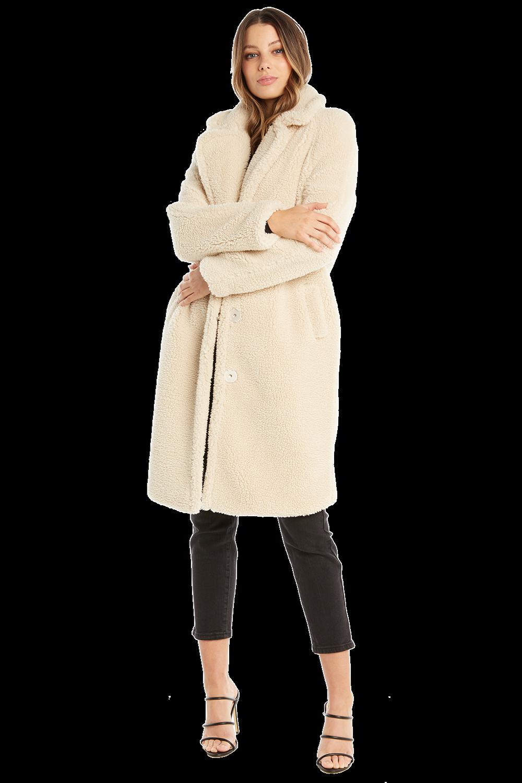 TEDDY LONG COAT in colour WHISPER WHITE