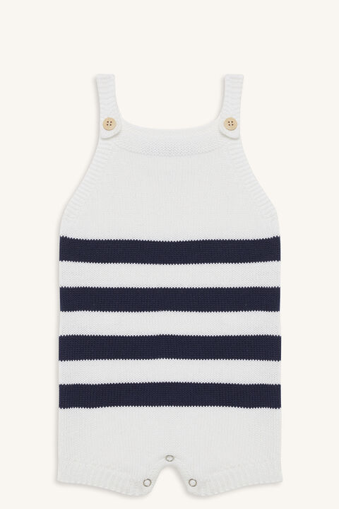 KNITTED STRIPE GROW in colour CLOUD DANCER