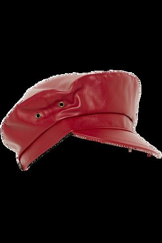 TEMIKA CAPTAINS CAP in colour RED BUD