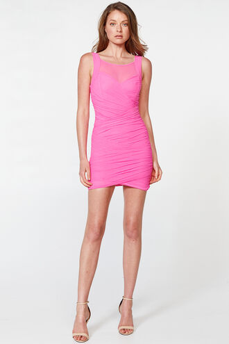 IRIS DRESS in colour SHOCKING PINK