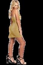DANI LUREX MINI DRESS in colour FROSTED ALMOND
